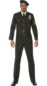 Army Men Halloween Costume Military Officer Costume Mens Army Halloween Costume