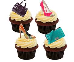 cake decorations designer handbags and shoes edible cupcake toppers