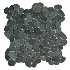pebble floor tile shower finding black pebble tile shower niche