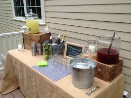 outdoor bar at our housewarming party outdoor decoration
