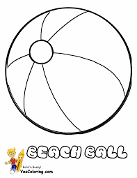 beach ball coloring page learning colors and numbers for kids with