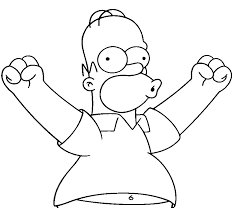 homer simpsons free coloring pages free printable coloring pages
