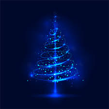 shiny blue tree with blue background vector 03 vector