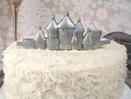 castle cake topper silver castle cake topper toccabile
