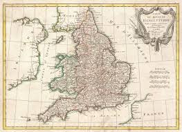 Map Of England by File 1772 Bonne Map Of England And Wales Geographicus England