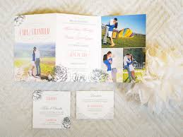 tri fold wedding invitations vintage tri fold photo wedding invitation by twelve30 creative