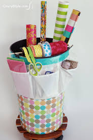 wrapping paper holder wrapping paper organizer with ribbon holder