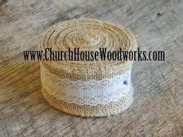 wide lace ribbon jute burlap lace ribbon church house woodworks