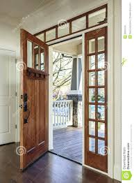 front door opens outward my into dining room living open by