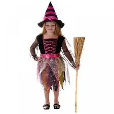 pink witch costume girls boys girls childrens kids clearance halloween party fancy dress