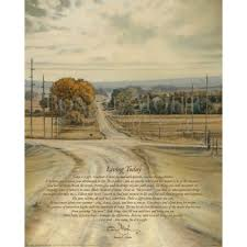 living today print inspirational rural country setting