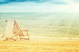 Vintage Chaise Lounge Old Vintage Chaise Lounge On Beautiful Beach Summer Stock Photo