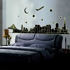night new york skyline city glow in the dark removable wall easy to apply remove and reuse without leaving damage or residue peel stick no paint no tools and no hassle instantly brighten up any space