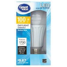 great value led general purpose 18w 1700 lumens daylight medium