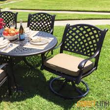 nevada 7 piece cast aluminum patio dining set coastlink furniture