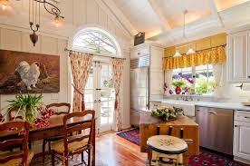 traditional wooden dining set semi circle kitchen window farmhouse