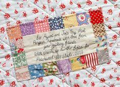 little bluebell born to shine quilt label handmade tags