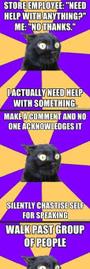 Anxiety Cat Meme - anxiety cat accidently make eye contact while turning head rotate