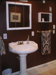 Bathrooms Painted Brown Small Bathroom Accent Wall My Stuff Pinterest Bathroom