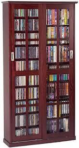 Vhs Storage Cabinet Leslie Dame Ms 700dc Glass Sliding 2 Door Multi Media Storage