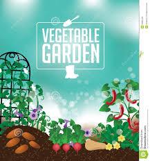 Vegetable Garden Blogs by Vegetable Garden Background Stock Vector Image 50895729