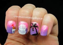 creative nail design by sue summer challenge tropical drinks