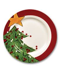signing plate magnolia 10 5 christmas tree plate zulily