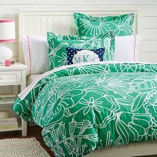 Green Duvets Covers Morgan Floral Duvet Cover Sham Gumdrop Green Pbteen