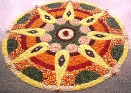 decor rangoli decoration with flowers beautiful home design