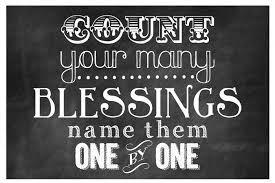 thanksgiving count your may blessings free printable horizontal