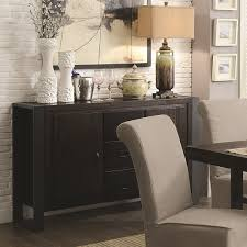 Keller Dining Room Furniture Coaster Keller Contemporary Server With Concealed Storage Value