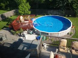 pool exciting image of backyard decoration using round above