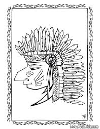 indian chief portrait coloring pages hellokids com