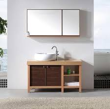 Open Bathroom Vanity by Bathroom Extraordinary Solid Wood Vessel Sink Bathroom Vanity
