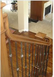Wooden Banister Replace Wooden Baluster With Iron Balusters