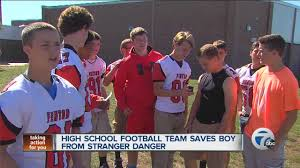 Stranger Danger Worksheets High Football Team Saves Boy From Stranger Danger Youtube