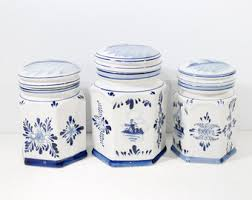 pottery canisters kitchen kitchen pottery etsy