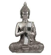 large silver sitting thai buddha ornament figure statue sculpture