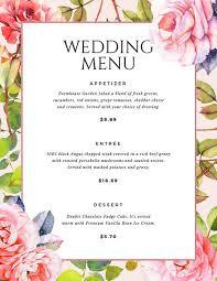 wedding menu cards template wedding menu templates canva