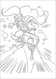 Kids N Fun Com 34 Coloring Pages Of Thor Thor Coloring Page