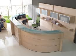 office furniture reception like the shape not the finish or color