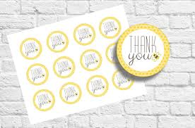 bee thank you tag golden polka dot baby shower mom to bee