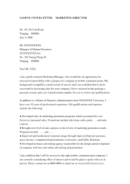 cover letter marketing executive cover letter sample