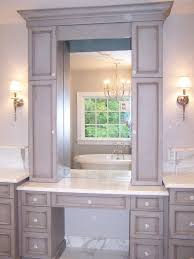 the stylish and beautiful bathroom vanity with makeup station