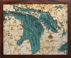 Map Of Mackinac Island Below The Boat Lake Huron