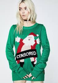 santa sweater tipsy elves censored santa sweater dolls kill
