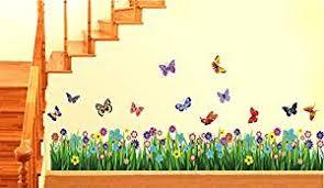 buy decals design u0027walking in the garden flower u0027 wall sticker pvc