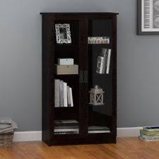 Glass Door Bookshelf Glass Door Bookcase Ebay