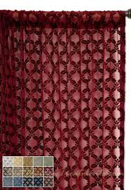 diva diamond semi sheer curtain drapery panel available in 7 colors