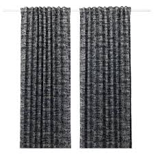 Black And White Blackout Curtains Solidaster Blackout Curtains 1 Pair Ikea